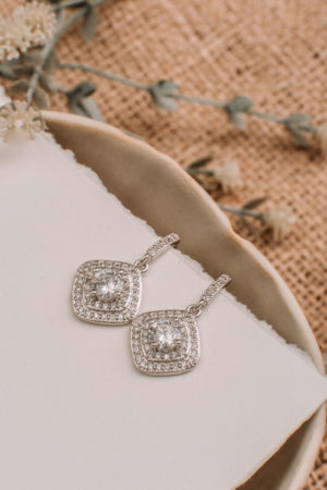 Cubic Zirconia 925 Sterling Silver Drop Earrings