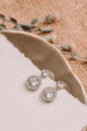 Cubic Zirconia 925 Sterling Silver Drop Earrings