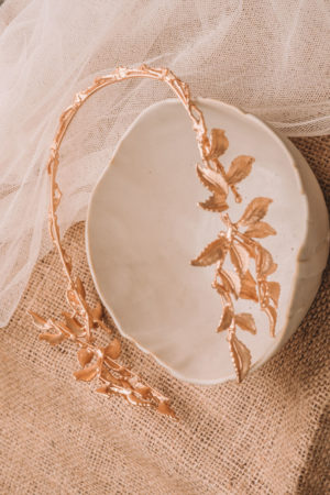Leaf Pattern Grecian Inspired Bridal Head Dress